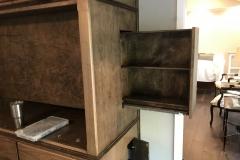 Hidden media shelf/drawer