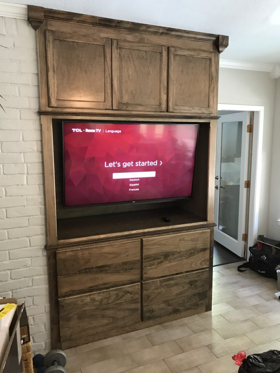 Two-Sided Media Cabinet